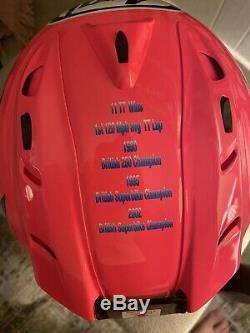 Collectors Arai RX-7 GP Steve Hislop Limited Edition Helmet