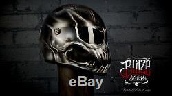 Custom Airbrushed/painted Ghost Reaper fibreglass helmet Bandit Simpson style