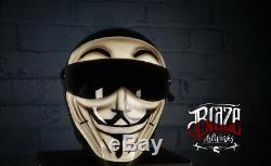 Custom Airbrushed/painted Vendetta Matrix Street FX helmet Bandit Simpson style