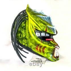 Custom motorcycle helmet Predator Dragon Airbrush paint 3 Led free shipping
