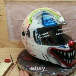 Custom painted helmet U. K. ROAD LEGAL