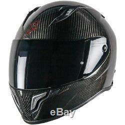 Dexter Cronos Carbon Motorbike Motorcycle Sports Race Helmet Black Gloss