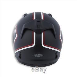 Ducati Redline Arai Rebel Black Red Motorbike Motorcycle Helmet Race Track M