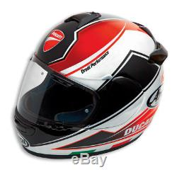 Ducati Theme Arai Chaser V Full Face Race Motorcycle Motorbike Helmet M L