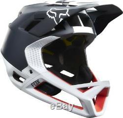 FOX Proframe Libra Downhill Mountain Bike Full Face Helmet Black White