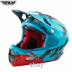 Fly Racing Bike MTB Adult Downhill Helmet Carbon Fibre (WERX Blue/Red/Black)