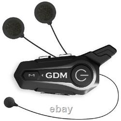 Full Face GDM Motorcycle Helmet + Intercom Bluetooth + 4 extra shields