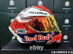 Full Face Helmet Motorcycle Red Bull Marc Marquez Moto GP Shoei X14 X-Spirit 3