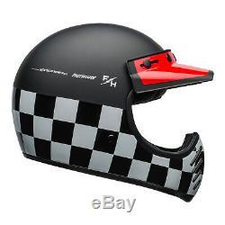 Genuine Bell Moto-3 Helmet Fasthouse Checkers M G Black White Red