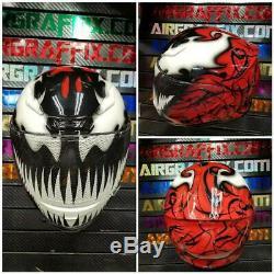 Glow in the Dark Carnage Custom Painted Airbrushed Motorcycle Helmet