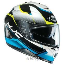 HJC IS-17 Loktar Blue IS 17 Full Face Motorcycle Helmet Was £180