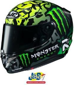 HJC RPHA 11 Crutchlow Special 1 Race Replica Motorcycle Helmet + FREE BEANIE HAT