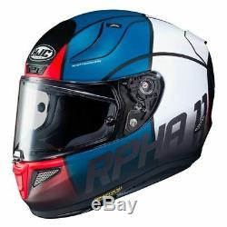 HJC RPHA 11 Quintain Red Blue Full Motorcycle Motorbike Helmet Pinlock 2 Visors