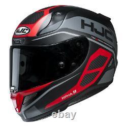 HJC RPHA 11 Saravo Red Full Face Motorcycle Motorbike Helmet Pinlock 2 Visors