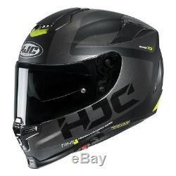HJC RPHA 70 Balius BLACK Fluo Full face ACU motorcycle helmet with sun visor
