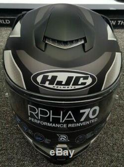 HJC RPHA 70 Grandal Black Motorcycle Motorbike Full Face Helmet Free Pinlock XL