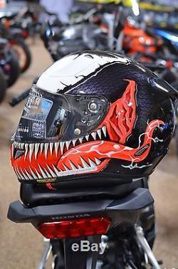 HJC x MARVEL VENOM RPHA 11 PRO Full Face Motorcycle Helmet Mens Size LARGE