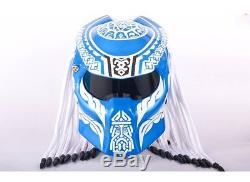 Halley Motorcycle Carbon Fiber Predator Iron Man Full face Helmet With Visor DOT