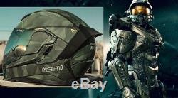Halo Master Chief Motorbike Icon Airflite Battlescar 2 Motorcycle Crash Helmet