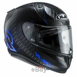 Hjc Rpha 11 Epik Trip Black / Blue Full Face Motorcycle Crash Helmet Size M