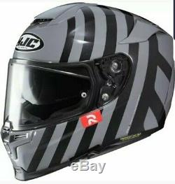 Hjc Rpha 70 Forvic Grey / Black Motorcycle Helmet Medium