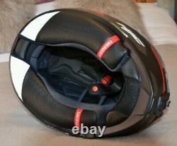 Hjc Rpha 70 Grandal Matt Red Black Full Face Motorcycle Helmet Large