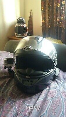 Hjc crash helmet medium with sena 20s and go pro 3 white