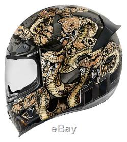 ICON Airframe Pro COTTONMOUTH Full-Face Motorcycle Helmet (Gold/Black) L (Large)