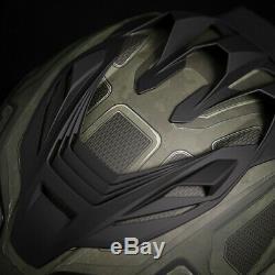 Icon Airflite Blockchain Green Motorcycle Motorbike Helmet Free Smoked Visor