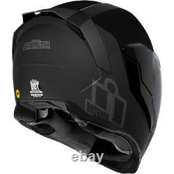 Icon Airflite MIPS Stealth Black Motorcycle Motorbike Helmet Free Smoked Visor