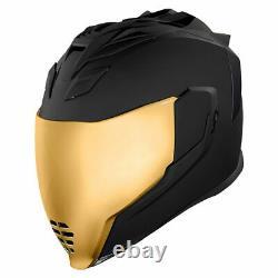 Icon Airflite Peace Keeper Black Full Face Motorcycle Motorbike Helmet