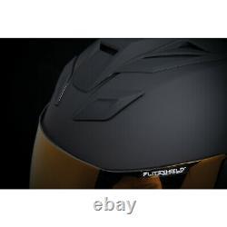 Icon Airflite Peace Keeper Black Motorcycle Motorbike Helmet Free Gold Visor