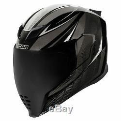 Icon Airflite QB1 Full Face Motorcycle Motorbike Helmet Black