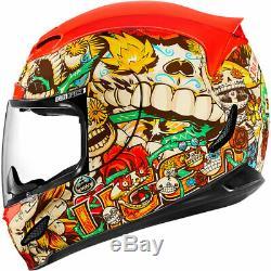 Icon Airmada Dia De Los Muertos Full Face DOT Motorcycle Helmet Size Med