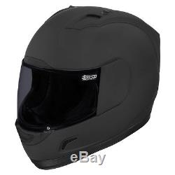 Icon Alliance Dark Full Face Motorcycle Helmet Matt Black