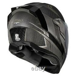 Icon Black Airflite Ultrabolt Full Face Motorcycle Helmet New Spring 2021