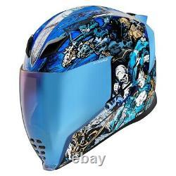 Icon Blue Airflite 4Horsemen Full Face Motorcycle Helmet New Spring 2021