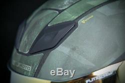 Icon Motosports Airflite BATTLESCAR 2 Full-Face Helmet (Green) M (Medium)