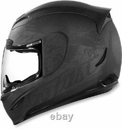 Icon Motosports Airmada SCRAWL Full-Face Motorcycle Helmet (Black) M (Medium)