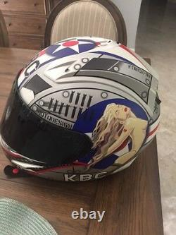 KBC Airborne Edition 2 motorcycle Helmet with extras- Size LG RARE