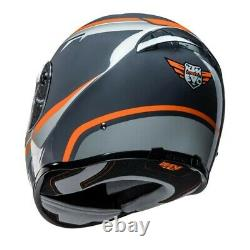 KTM Street Evo Grey Orange Motorcycle Full Face Crash Helmet New