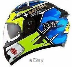 KYT Falcon Espargaro Race Replica Motorcycle Helmet Pump Fit Free Pinlock & Post