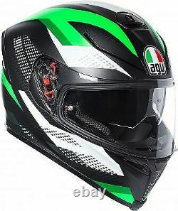 Kawasaki Green 2018 Agv K5-s Marble Motorcycle Road Race Crash Helmet