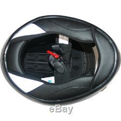 LEO-958 Carbon Fibre Full Face Motorcycle Helmet Motorbike Crash PSI Air Pump