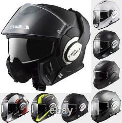 LS2 FF399 Valiant Flip Up Front Modular Full Face Motorcycle Motorbike Helmet