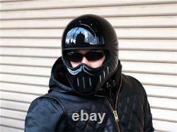 Lanesplitter Helmet TT & CO Black Full Face Motorcycle Vintage DOT ECE M-XXL T02