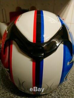 Leon Haslam Devil/angel Arai Viper Gt Motorcycle Helmet Very Rare