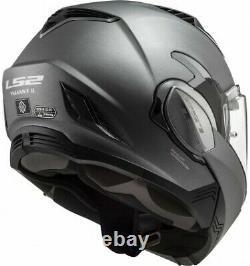 Ls2 Ff900 Valiant II Matt Titanium Modular Flip Full Face Motorbike Helmet