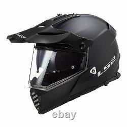Ls2 Mx436 Pioneer Evo Adventure Motorcycle Helmet Matte Black Medium