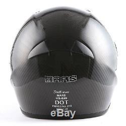 MARS Genuine Real Carbon Fiber Motorcycle Full Face Helmet Snell M2015 DOT